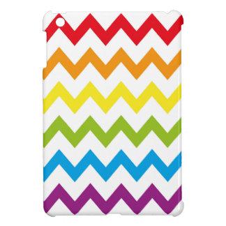 レトロの虹のジグザグパターン iPad MINIケース