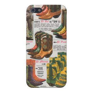 レトロの西部の衣服: ブーツ iPhone SE/5/5sケース
