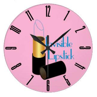 レトロの見えない口紅 ラージ壁時計