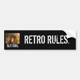 レトロの規則。 バンパーステッカー