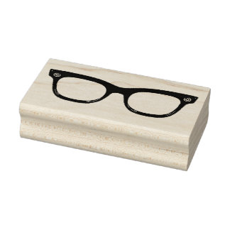 レトロの角縁メガネのゴム製芸術のスタンプ ラバースタンプ