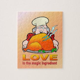 レトロの調理Design.Loveは魔法の原料です ジグソーパズル