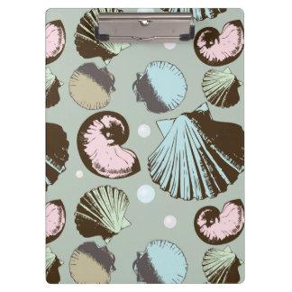 レトロの貝殻パターン クリップボード