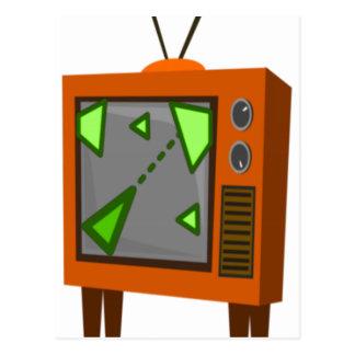 レトロの賭博TV ポストカード