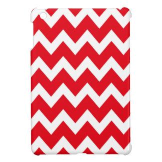レトロの赤いジグザグパターン iPad MINIケース