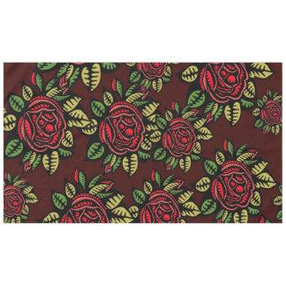 レトロの赤いバラのテーブルクロス テーブルクロス