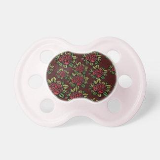 レトロの赤いバラ0-6か月のBooginHead®babyの調停者の おしゃぶり