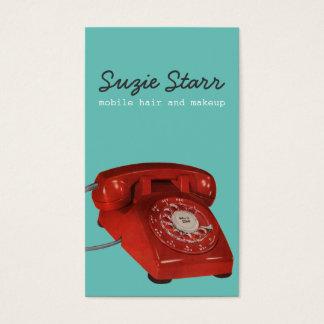 レトロの赤い電話ビジネスおよびアポイントメントカード 名刺