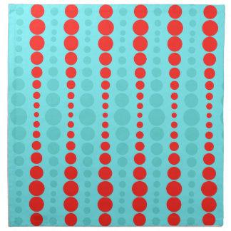 レトロの赤およびターコイズの点の布のナプキン ナプキンクロス