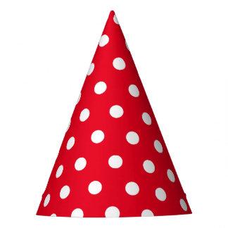 レトロの赤と白の点のパーティの帽子 パーティーハット
