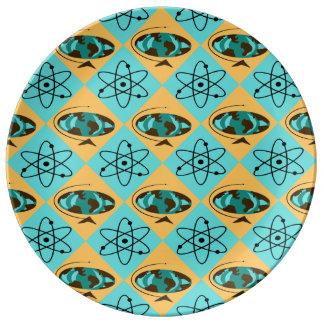 レトロの道化師の地球の速歩馬の磁器皿 磁器プレート