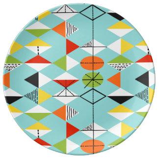 レトロの道化師パターン磁器皿 磁器プレート
