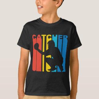レトロの野球のキャッチャー Tシャツ