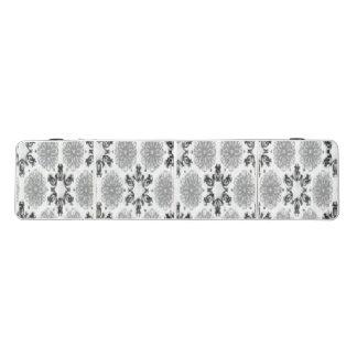 レトロの雪片の花の白黒の雪片 ビアポンテーブル