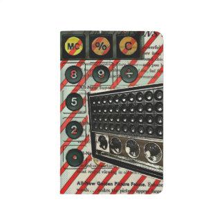 レトロの電子工学のスピーカーの短波のラジオ ポケットジャーナル