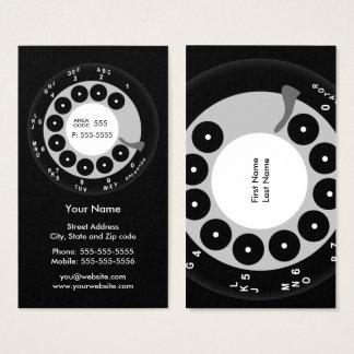 レトロの電話黒く及び白いビジネスまたはプロフィールカード 名刺