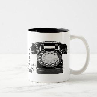 レトロの電話 ツートーンマグカップ