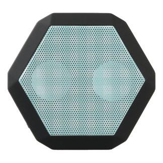 レトロの青いギンガムチェック模様のパターン背景 ブラックBluetoothスピーカー