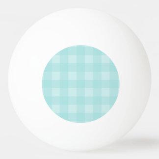 レトロの青いギンガムチェック模様のパターン背景 卓球ボール