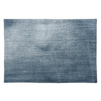 レトロの青いデニムの質 ランチョンマット