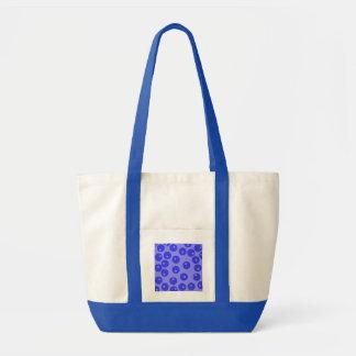 レトロの青いパターン。 円の設計 トートバッグ