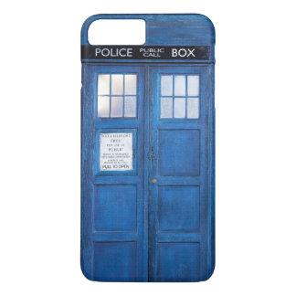 レトロの青い公衆電話のブーツ iPhone 8 PLUS/7 PLUSケース