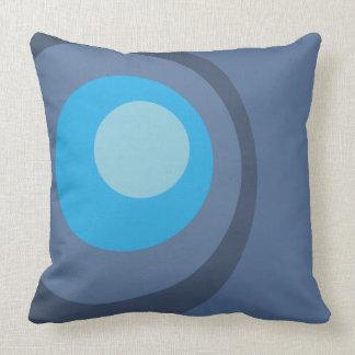 レトロの青い円 クッション