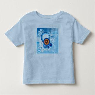 レトロの青い背景の幼児のワイシャツ トドラーTシャツ