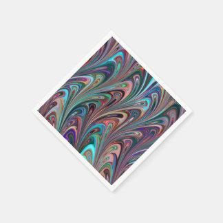 レトロの青い虹の抽象芸術の紙ナプキン スタンダードカクテルナプキン