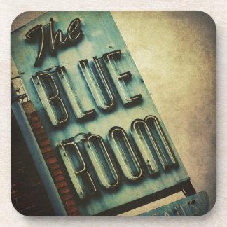 レトロの青い部屋のカクテルラウンジの印 コースター