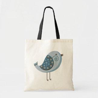 レトロの青い鳥 トートバッグ