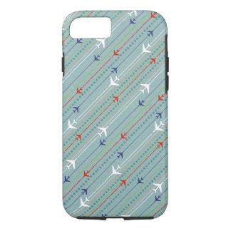 レトロの飛行機パターンiPhone 7の場合 iPhone 8/7ケース