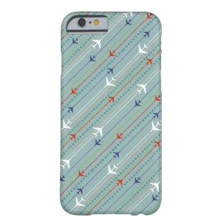 レトロの飛行機パターンiPhone 8/8Sの場合 Barely There iPhone 6 ケース