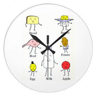 レトロの食品群の台所柱時計 ラージ壁時計