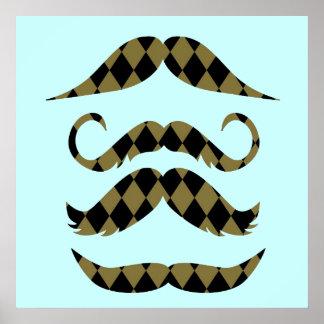レトロの髭 ポスター