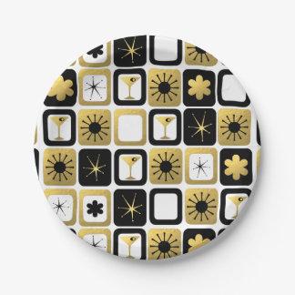 レトロの魅力的な金ゴールドの紙皿 ペーパープレート