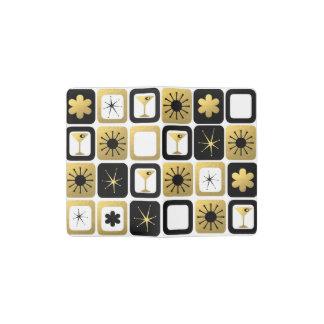 レトロの魅力的な金ゴールドのMoleskineのノートカバー ポケットMoleskineノートブック
