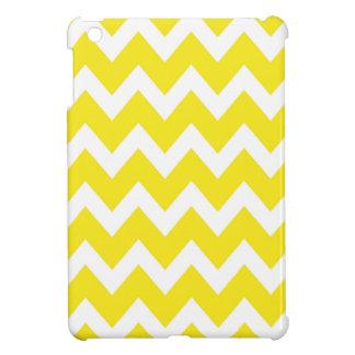 レトロの黄色いジグザグパターン iPad MINIカバー