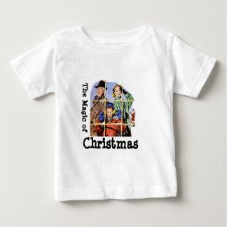 レトロの50年代のクリスマスの魔法 ベビーTシャツ