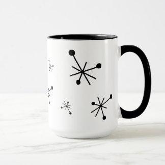 レトロの50年代の原子スターバストのマグ マグカップ