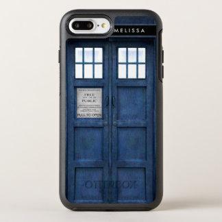レトロの60年代のイギリスの警察の電話箱 オッターボックスシンメトリーiPhone 8 PLUS/7 PLUSケース