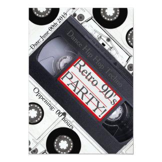 レトロの90年代の技術カバー招待 カード
