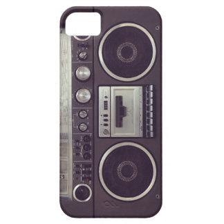 レトロのBoomboxのカセットプレーヤーのおもしろいなiPhone5例 iPhone SE/5/5s ケース
