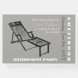 レトロのDeckchair 1つの退職パーティーの来客名簿 ゲストブック