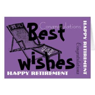 レトロのDeckchair 1の幸せな退職 カード