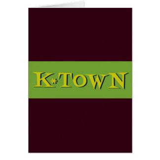 レトロのK*Townのアボカドの金ゴールド カード