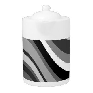 レトロのmoderのカーブ、波は灰色を、のギフト白い黒くします