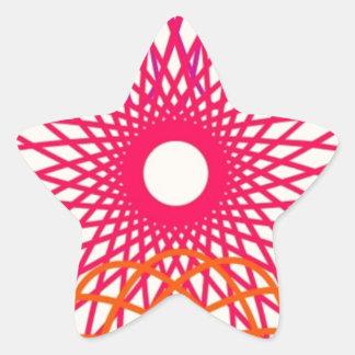 レトロのSpirographのデザイン 星シール