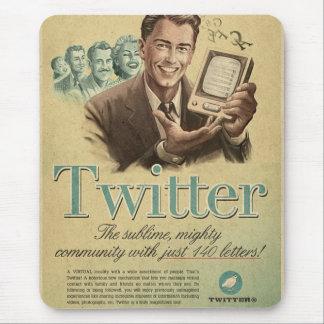 レトロのTwitter社会的な媒体の広告は私の愛を送ります マウスパッド