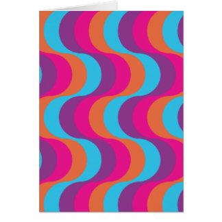 レトロは青、オレンジ、ピンクでおよび紫色振ります カード